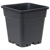 """Square Black Plastic Pot 12"""""""