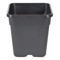 """Square Black Plastic Pot 14"""""""