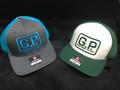 G.P. TRUCKER HAT (Green Mesh & bill. White front)
