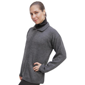 Womens Alpaca Wool Jacket Gray SZ S