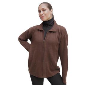 Womens Alpaca Wool Jacket Brown SZ S