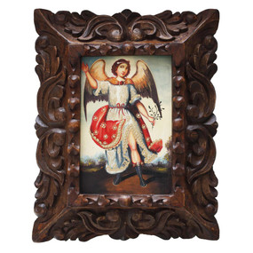 "Archangel Ariel Original Art Framed Oil Painting 10""x 8"""