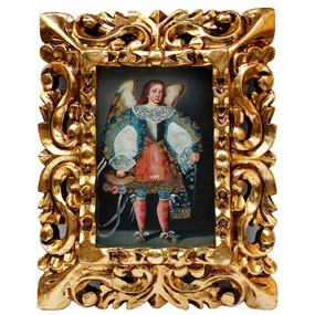 "Archangel Michael Original Art Framed Oil Painting 10""x 8"""