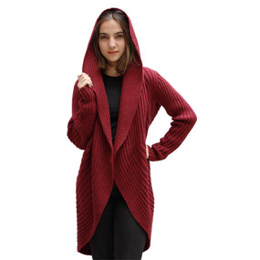Alpaca Wool Coat Burgundy SZ M