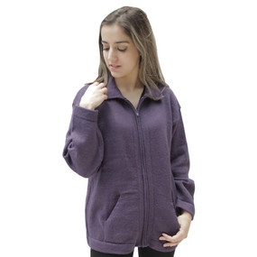 Womens Alpaca Wool Jacket Purple SZ S