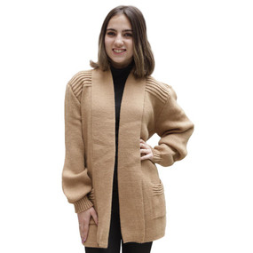 Women's Alpaca Wool Coat Sz XL Soft Camel