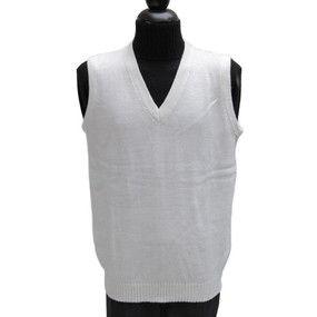 Mens Alpaca Wool Golf Vest SZ L Ivory