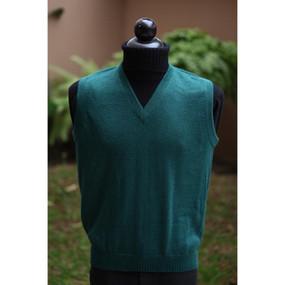 Superfine Alpaca Wool Golf Vest SZ M Green