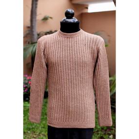Superfine Alpaca Wool Crewneck Sweater Sz M Soft Camel