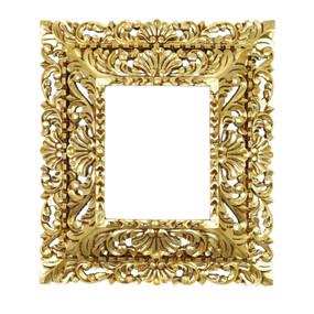 "Cedar Wood Frame Double Box Handmade Handcarved Bronze Leaf Vintage Colonial Art  19""H x 17""W"