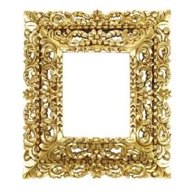 "Cedar Wood Frame Double Box Handmade Handcarved Design Bronze Leaf Colonial Art  19""H x 17""W   (87JA-021-003)"