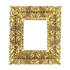 "Cedar Wood Frame Double Box Handmade Handcarved Design Bronze Leaf Colonial Art  19""H x 17""W (87NA-021-003)"
