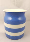 Large Blue & White Striped T G Green Cornish Kitchen Ware Jar
