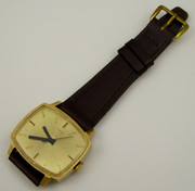 Vintage Timex Wrist Watch with Gold Dial
