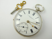 Antique 1881 Sterling Silver Fusee Pocket Watch Signed R Linford & Sons Norwich