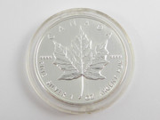 1999 Canadian Silver $5 Coin 1 Ounce .999 Silver Bullion