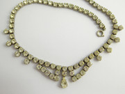 Vintage 1950s Art Deco Costume Necklace with Paste Setting