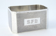 Antique Monogrammed SFD 1956 Solid Sterling Silver Napkin Ring by Frederick Field