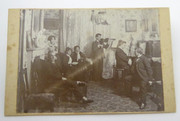 """Cross Lane 1899"" Danish Cabinet Card Photograph by Fanny Dahl Love Apotheket Randers"