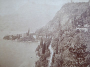 1880s Victorian Cabinet Card Photograph of Varenna by Carlo Bosetti Bellagio