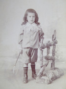 1800s Victorian Cabinet Card Photograph by Graffe of Paris