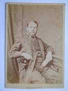 1800s Victorian Cabinet Card Photograph by Robert Thrupp 'Taken July 1881'