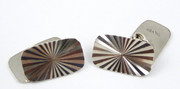 Pair of Art Deco Vintage Silver Cufflinks