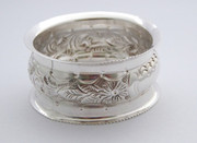 Antique 1906 Hallmarked Sterling Silver Napkin Ring