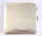 Antique Monogrammed CRL deco 1928 Sterling Silver Cigarette Case $220