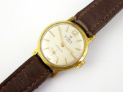 Vintage Ladies Gold Plated Onsa Swiss Mechanical Wrist Watch (running fast)