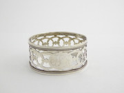 Antique 1920 Hallmarked Sterling Silver Napkin Ring Worn