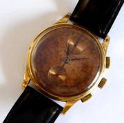 1930s Swiss Gents 18ct Gold Chronograph Wrist Watch