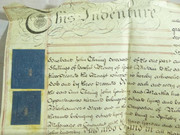 Antique 1796 Leather Vellum Parchment with Wax Seals Thring and Hardell