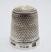 1923 Antique Sterling Silver Sewing Thimble 15  Henry Griffith & Sons