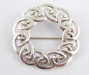 Vintage Hallmarked 925 Sterling Silver Celtic Designed Brooch