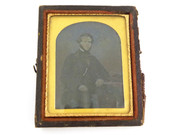 1800s Victorian Ambrotype Photograph by Stuart of 88 Glassford st Glasgow
