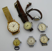 Group of Mechanical Watches Movements for Parts Steampunk Waltham Etc
