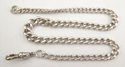 Antique Graduating Sterling Silver Pocket Watch Fob  Chain