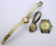 3 Vintage Mechanical Wrist Watches