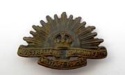 Antique WW2 Military AIF Australia Rising Sun Shoulder  Badge
