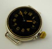 WW1 Black Dialed Trench Wrist Watch Needs Bezel