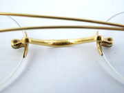 Antique Late 1800s Gold Plated Glasses  Glass Handley 1-10