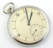 Vintage Slim Art Deco Mechanical Crown Wind Pocket Watch by Delcona Precision Needs Work