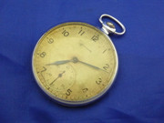 Vintage Slim Russian Art Deco  Mechanical Crown Wind Pocket Watch