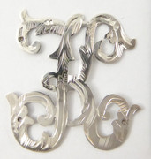1900s - 1920s Antique Solid Silver Letter 'K' 34mm with Silversmith's stamp Other Letters Available