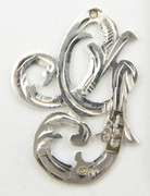 1900s - 1920s Antique Solid Silver Letters 'G' 22mm with Silversmith's stamp Other Letters Available