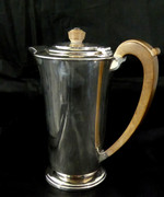 Large Art Deco 1939 Solid Sterling Silver Coffee Jug by  460 grams