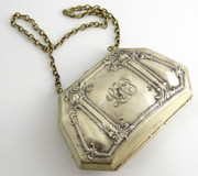 Antique 1900s Art Nouveau Silver Purse