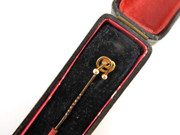 Antique Boxed Hallmarked 15ct Gold Knot Top Tie Pin $80au