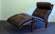 Original Vintage Fred Lowen Mid Century Tessa Leather T8 Lounge Chaise